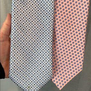 Bundle of 2 Stefano Ricci Men Ties 100% Silk